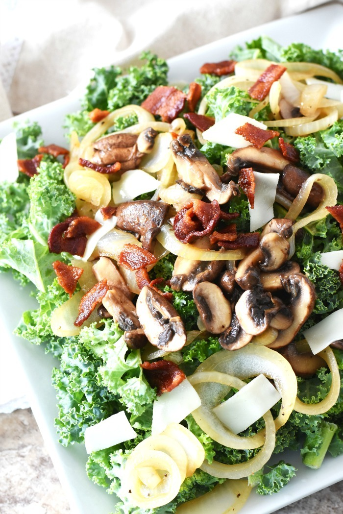 warm kale salad recipe