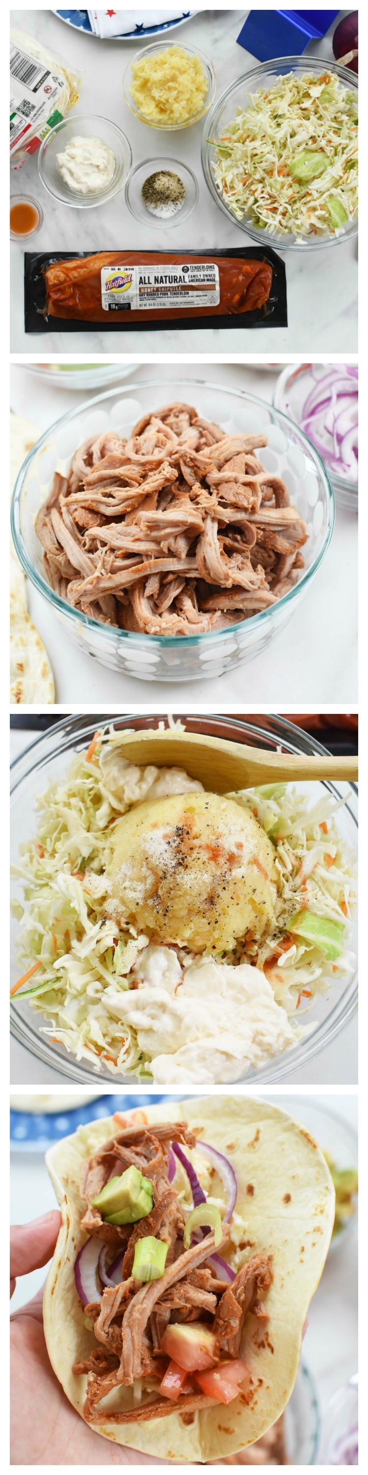 Pineapple Coleslaw Pork Street Tacos (with Hatfield® Pork)