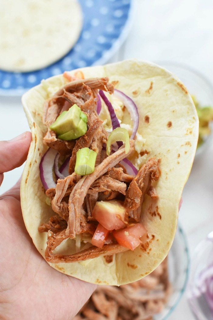 Pulled Pork Street Tacos with Pineapple Coleslaw