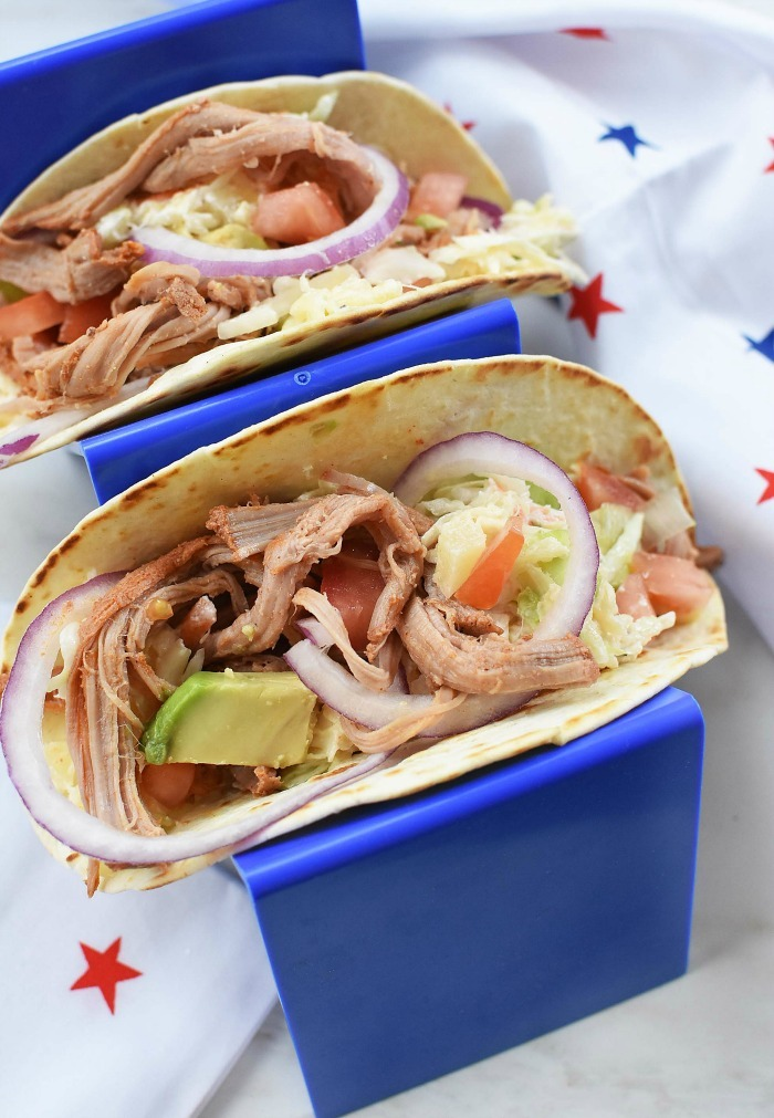 pulled pork street tacos