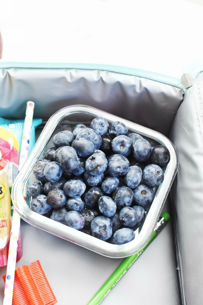 Blueberries in lunchbox