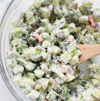 Cucumber Cracker Salad