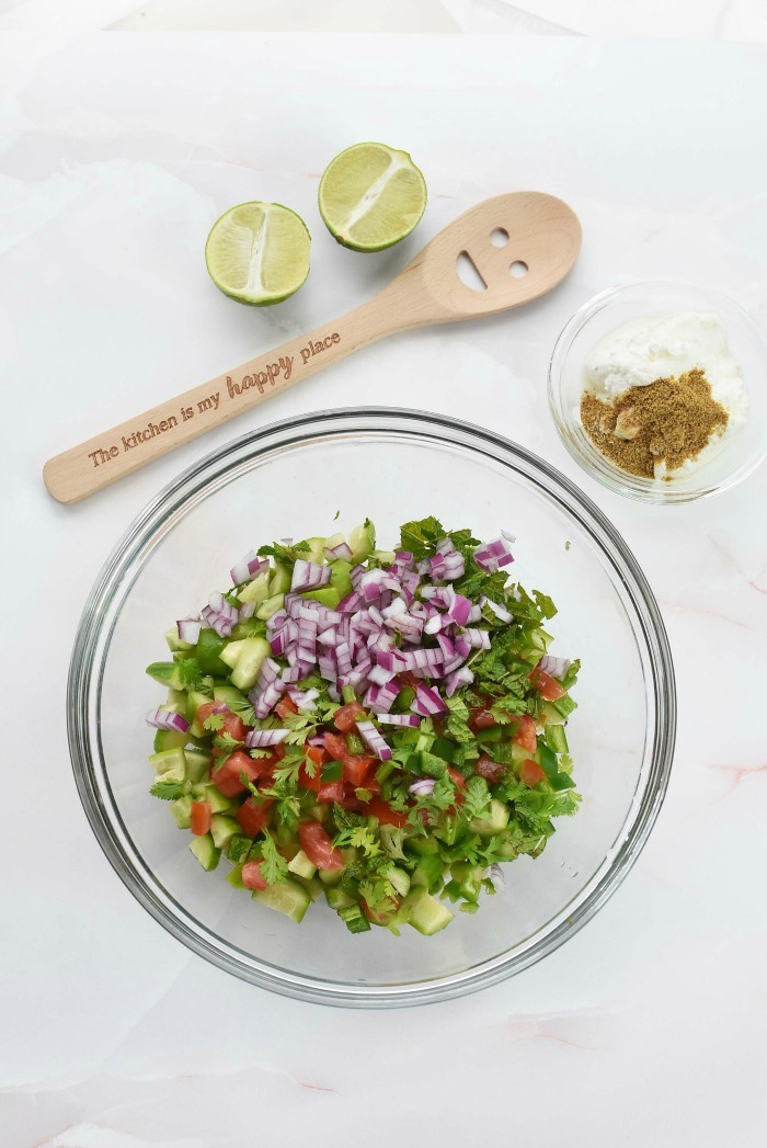 Cucumber Salsa Veggies