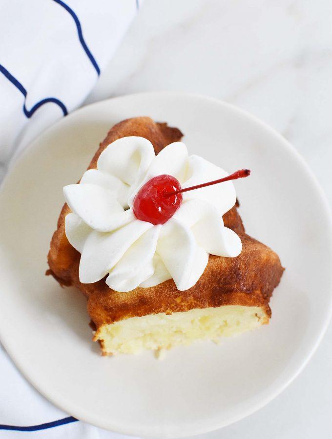 Pineapple Angel Food cake slice