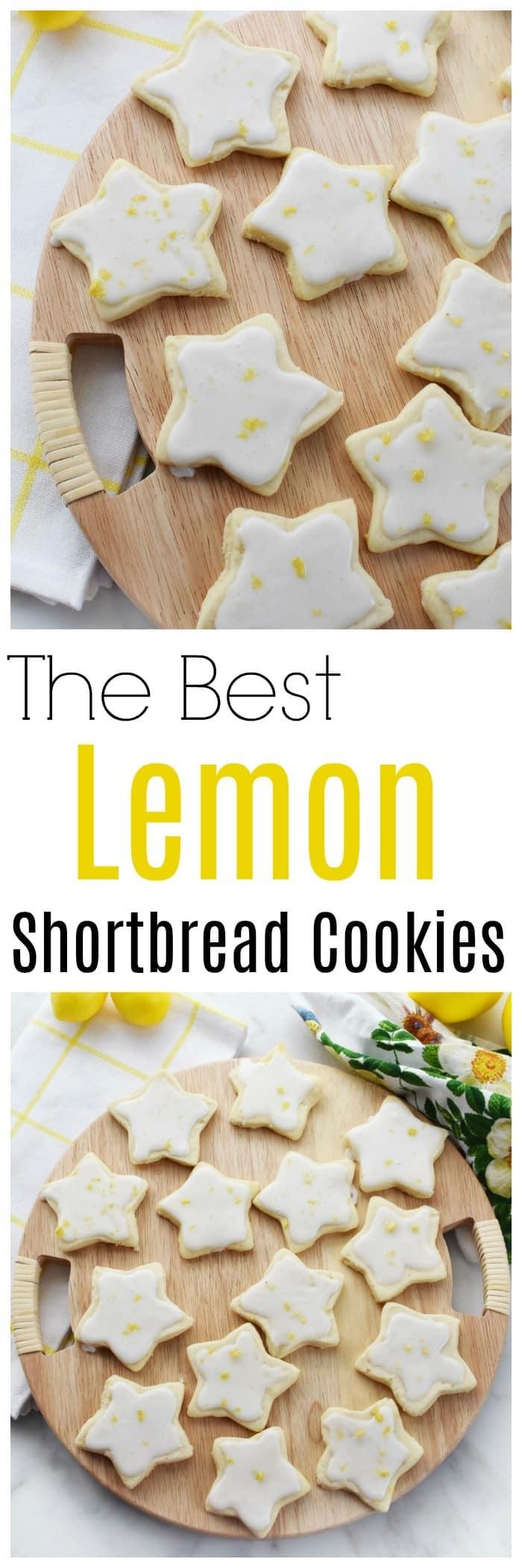 The Best Lemon Shortbread Cookies