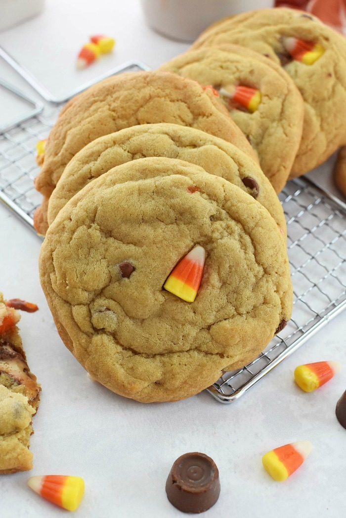 Candy Corn Chocolate Chip Cookies