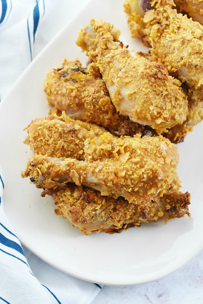Cornstarch and Cornflake Chicken