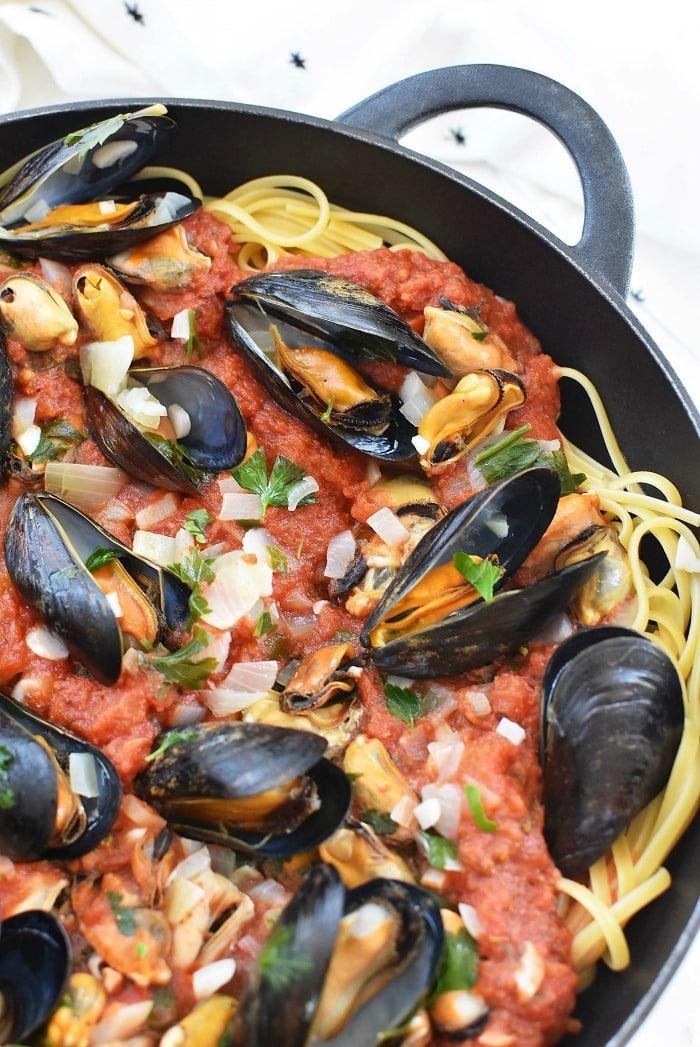 Mussels Pasta recipe