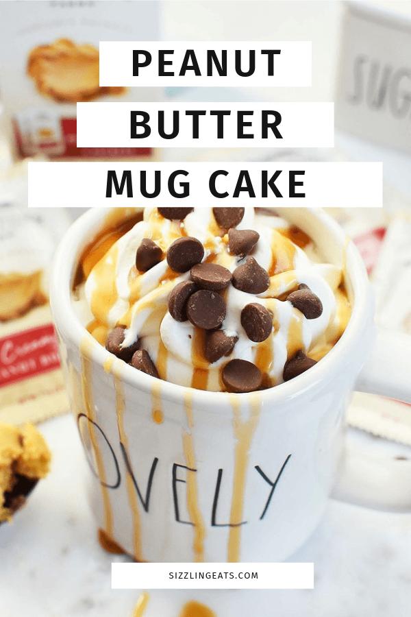Peanut Butter Mug Cake Dessert for One