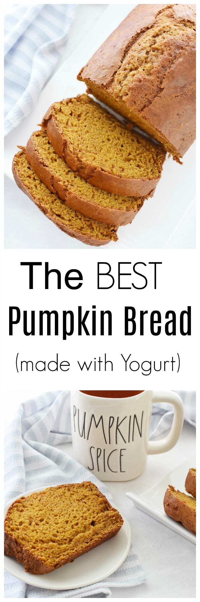 Pumpkin Bread Made with Yogurt