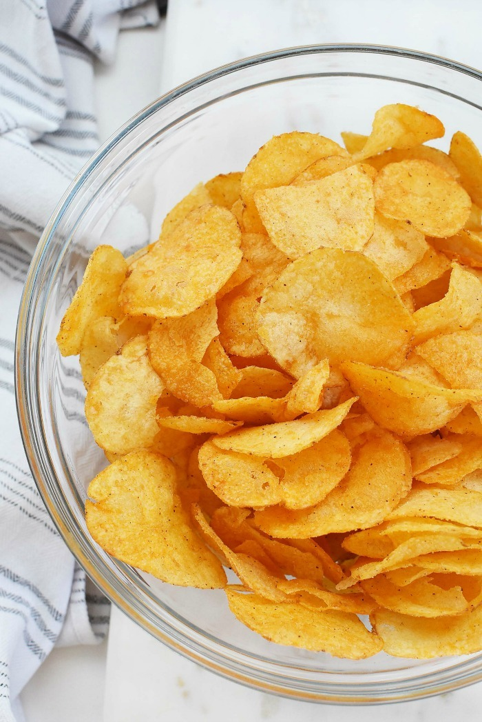 BBQ Potato Chips in Bowl