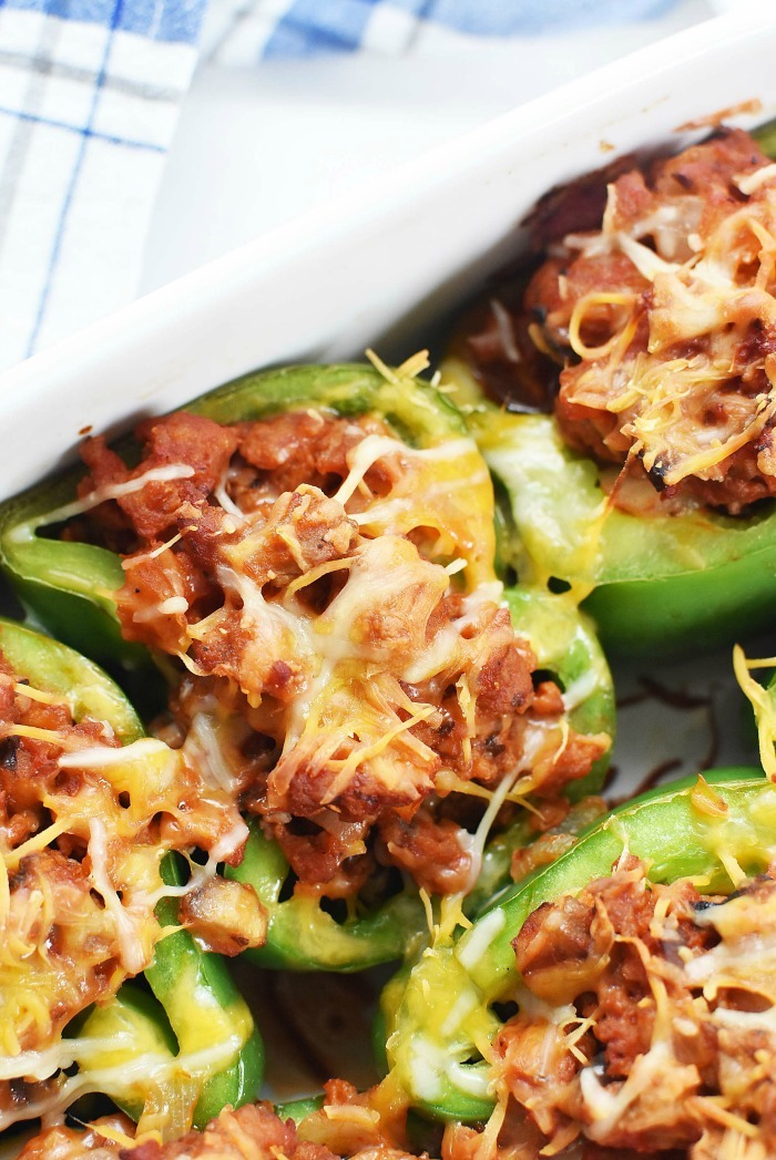Baked low carb stuffed peppers