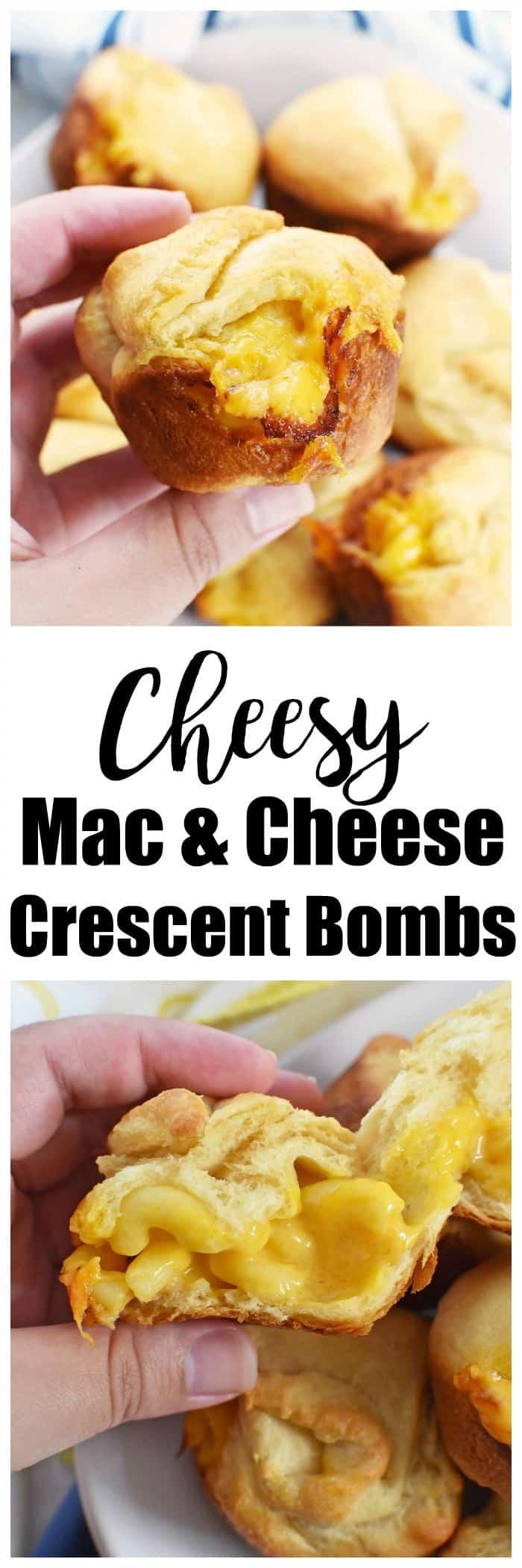 Macaroni & Cheese Crescent Bombs