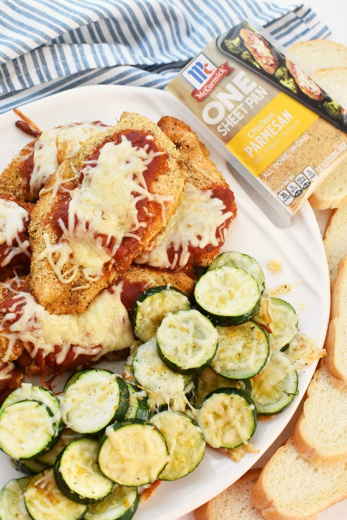 Chicken parm with zucchini