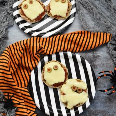 Halloween English Muffin Pizzas