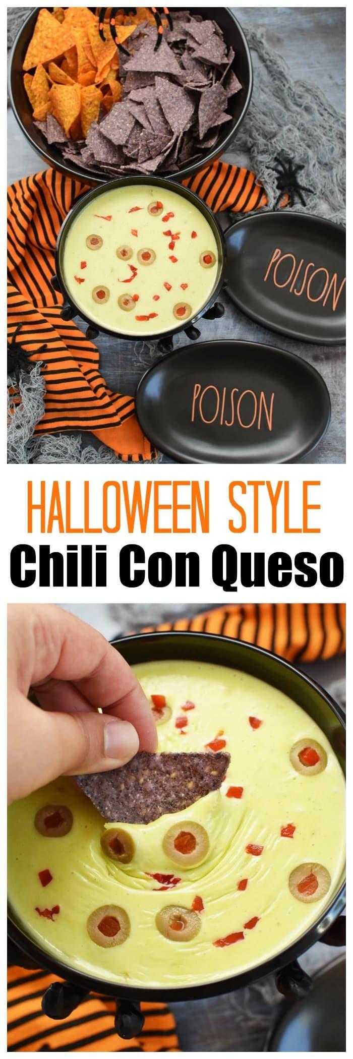 Halloween Chili Con Queso Dip