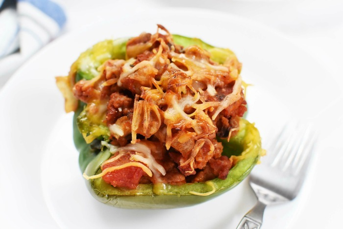Low Carb Sausage Stuffed Peppers