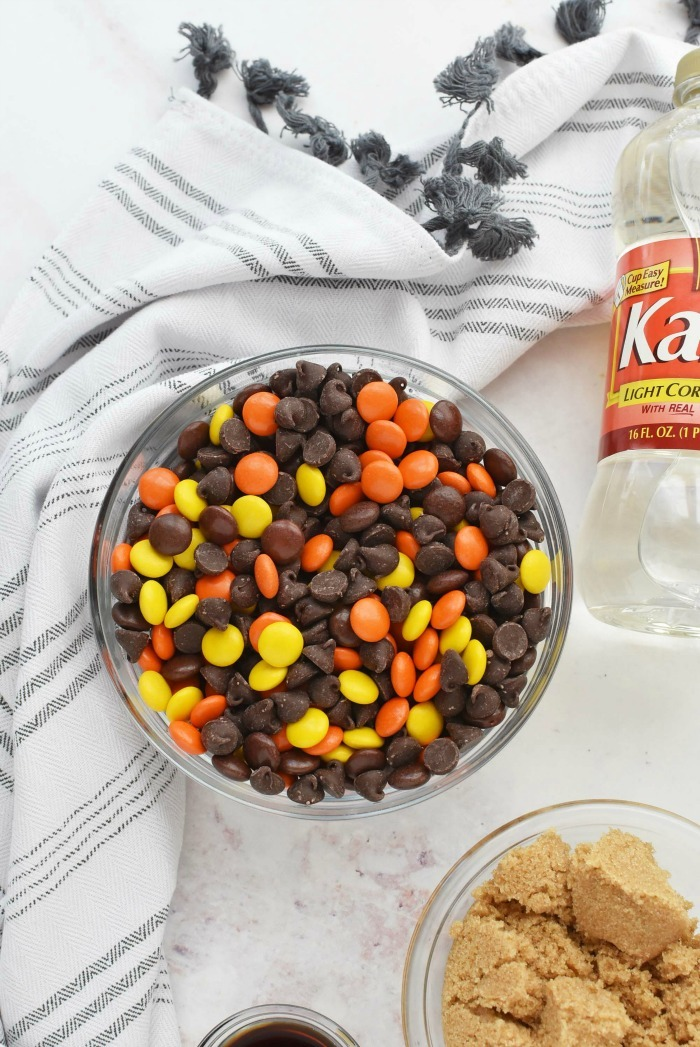 Reeses Pieces and chocolate chip blend