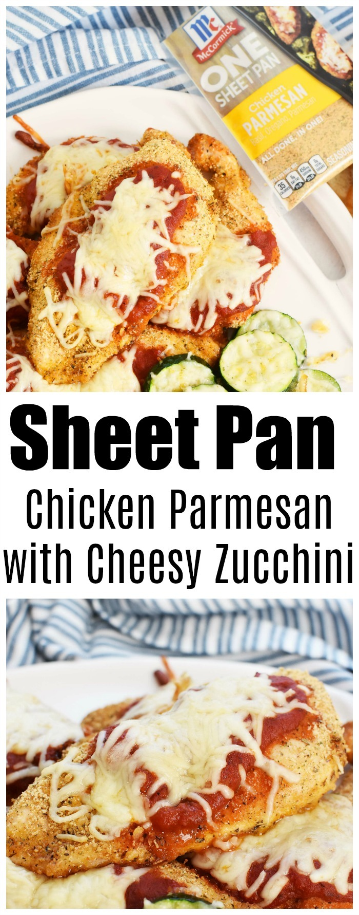 Sheet Pan Chicken Parmesan with Cheesy Zucchini