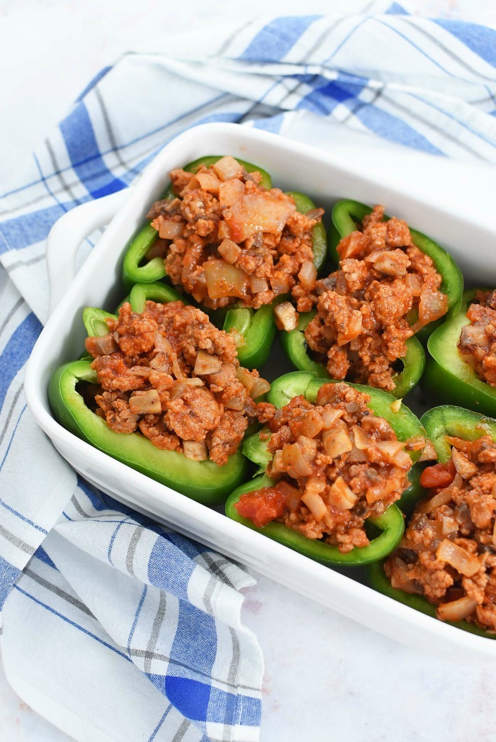 Stuffed sausage peppers