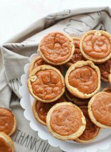 pumpkin pie in a muffin tin