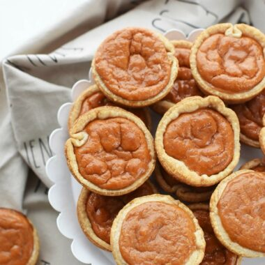 pumpkin pie in a muffin tin
