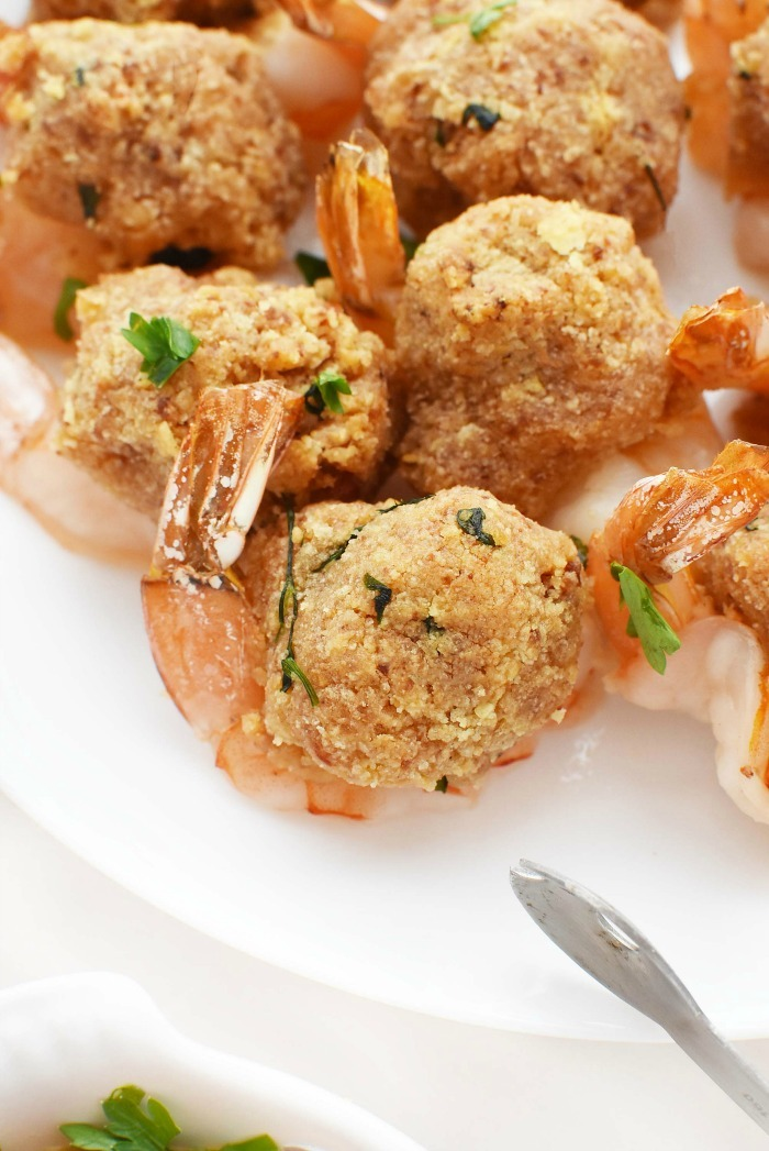 Baked Stuffed Shrimp on plate
