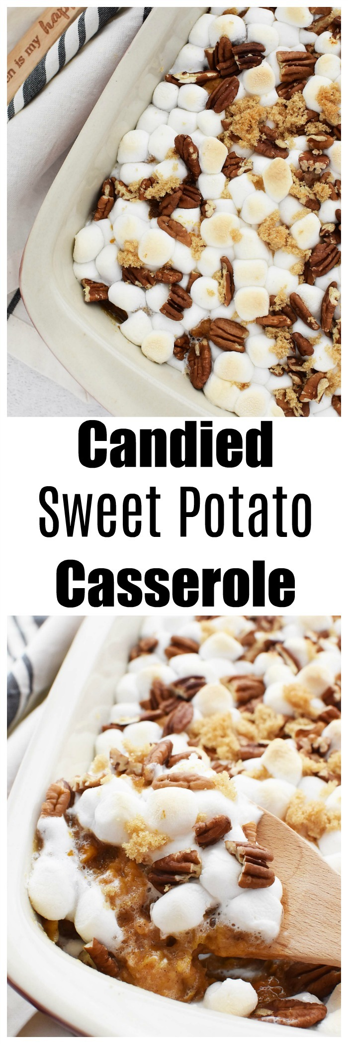 Sweet Potato Casserole with Marshmallows & Pecans
