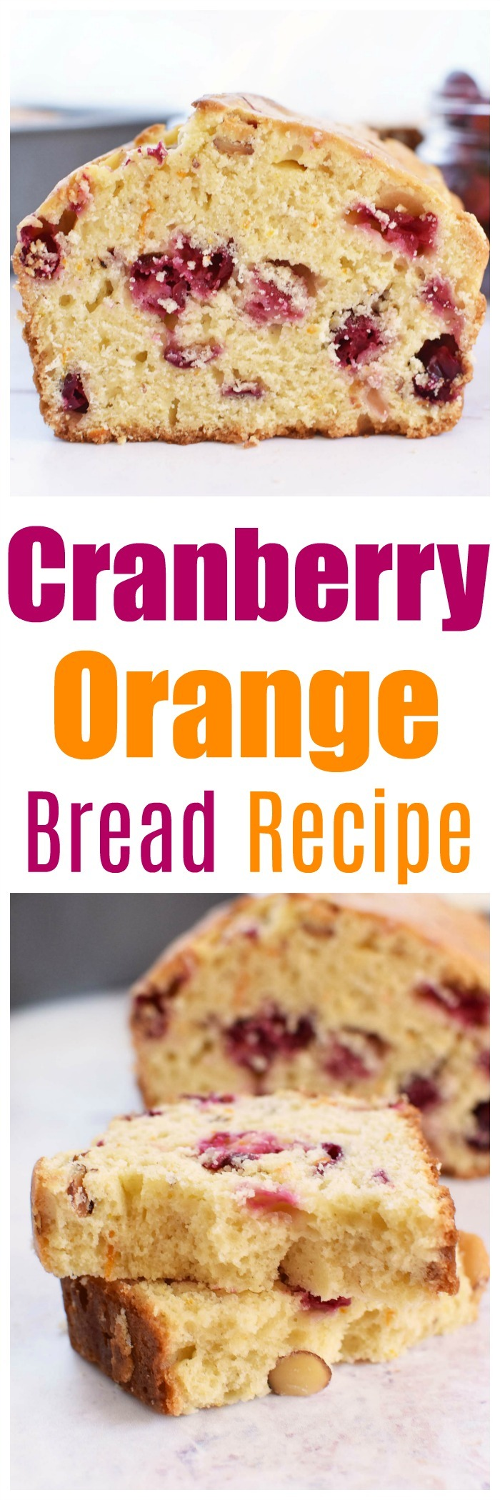 Cranberry Orange Bread Loaf Recipe