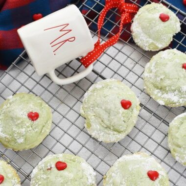 Grinch Pistachio Cookies