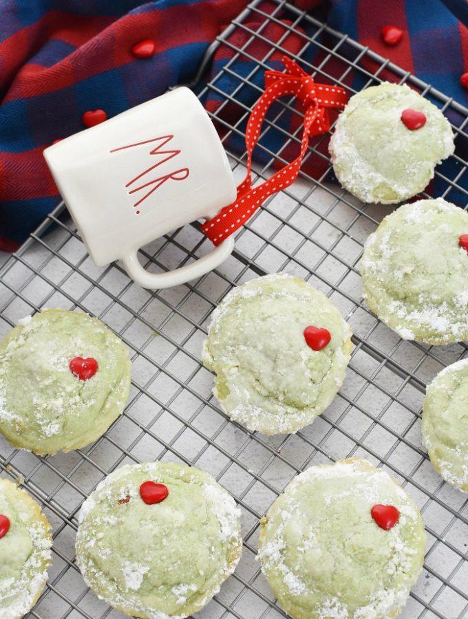 Grinch Pistachio Cookies
