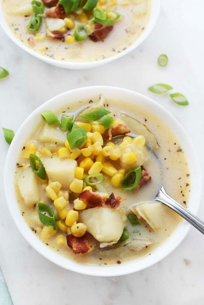 Lighter Corn Chowder Pressure Cooked