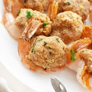 Portuguese Baked Stuffed Shrimp