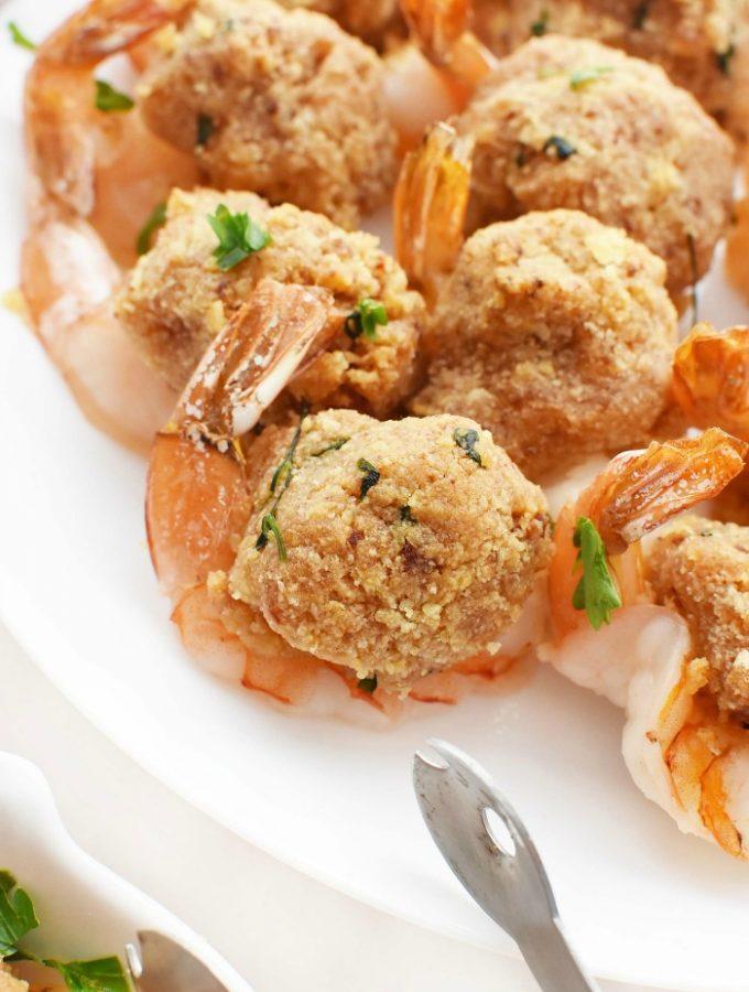 Portuguese Baked Stuffed Shrimp