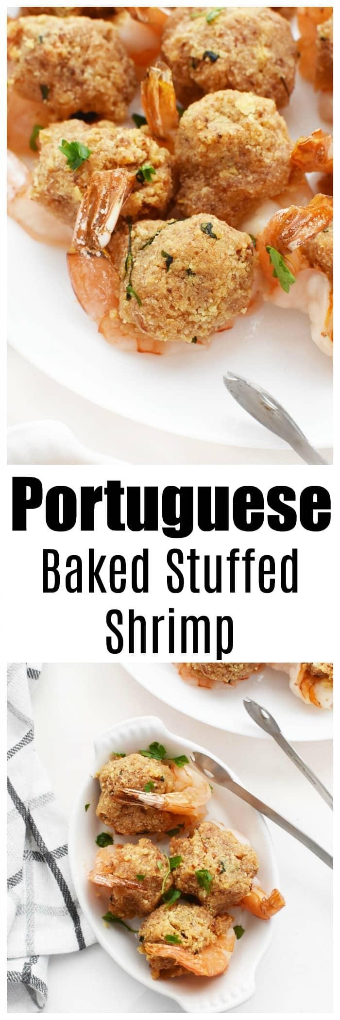 Portuguese Baked Stuffed Shrimp Recipe