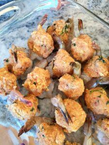 Pre-Baked Stuffed Shrimp in pan