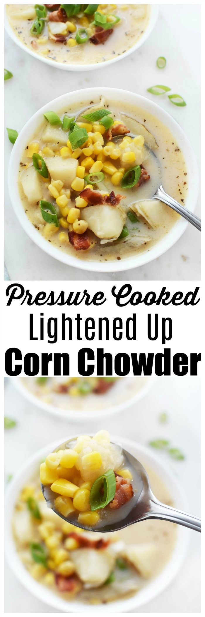 Pressure Cooker Corn Chowder with Bacon