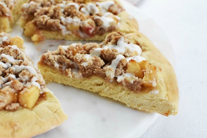 Apple Crumble Dessert Pizza Recipe