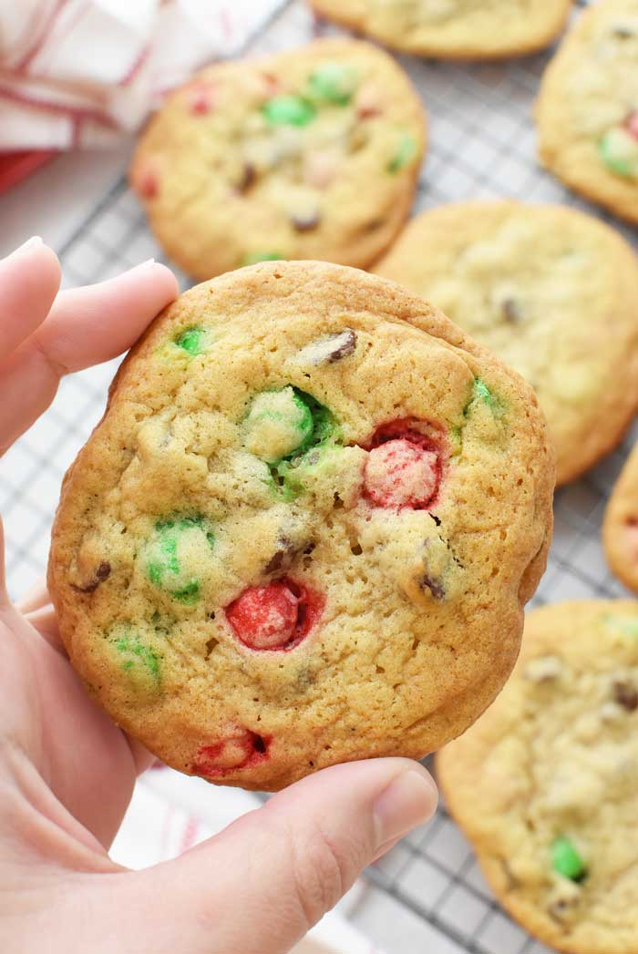 Chewy-Christmas-M&M-Cookies