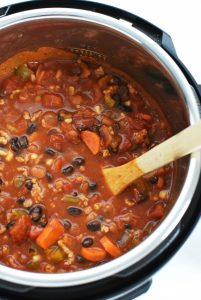 Chili in pressure cooker