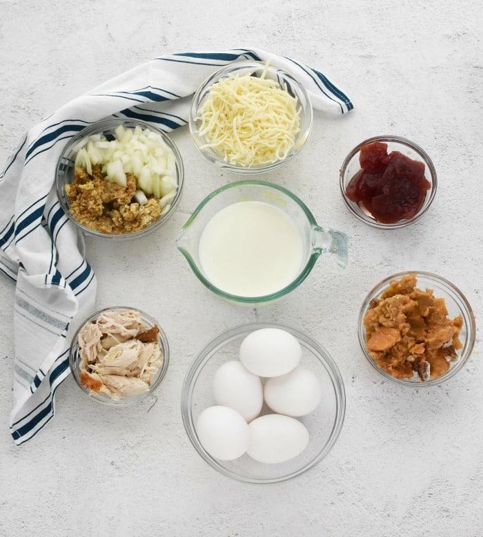 Leftovers Quiche Ingredients
