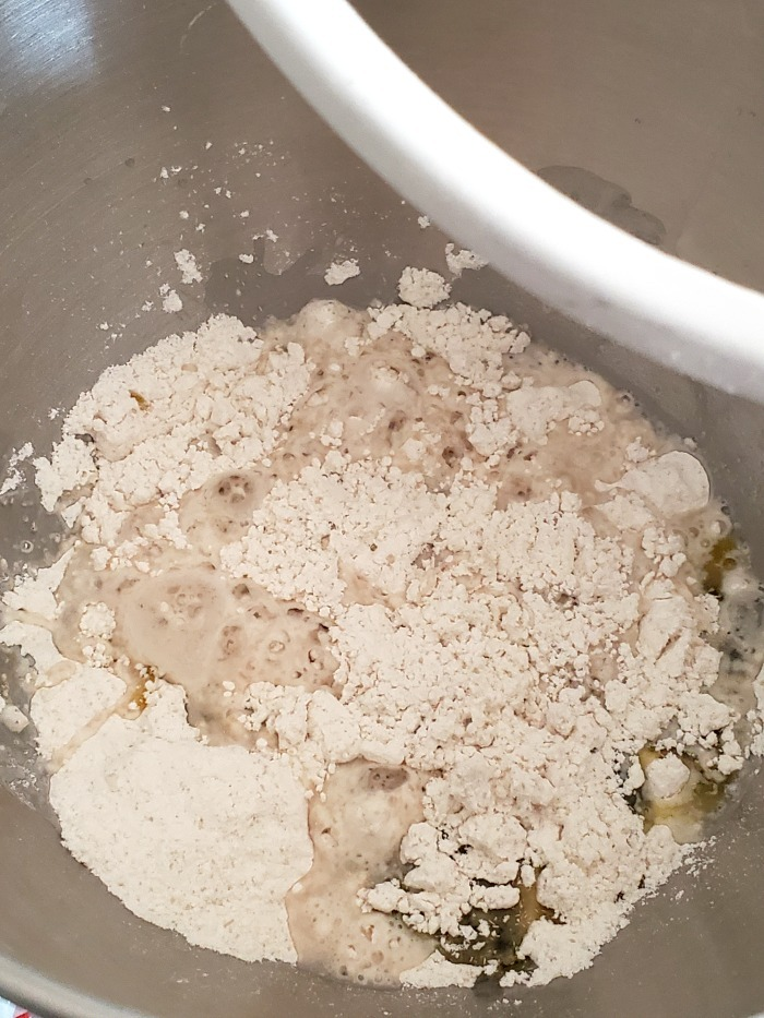 Rapid Rise Yeast in stand mixer