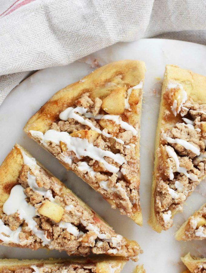 Sweet Apple Dessert Pizza
