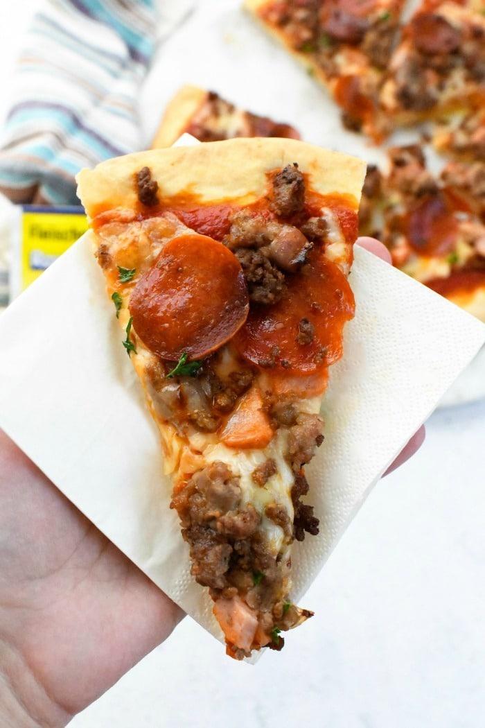 Meat Lover's Pizza Slice