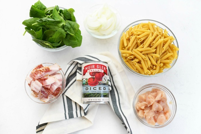 Bacon Chicken Pasta Ingredients