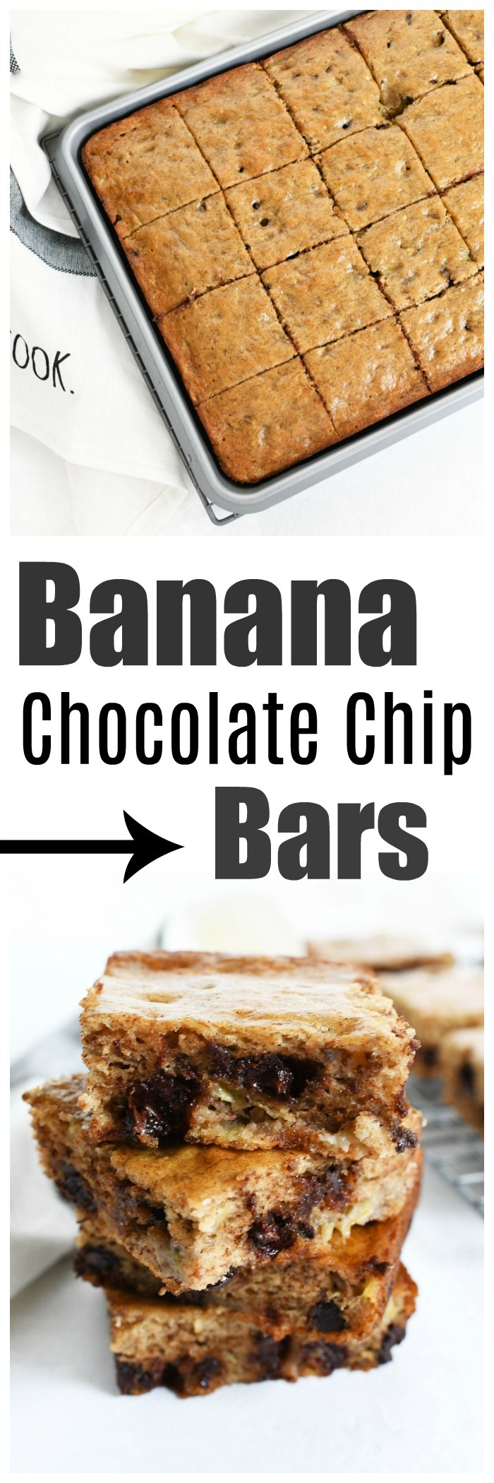 Chocolate Chip Banana Bars Recipe