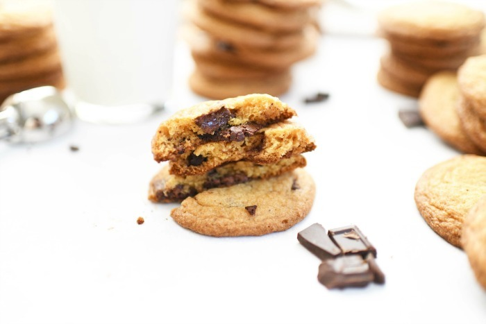 Chewy Chocolate Chunk Cookies inside
