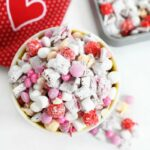 Cupid Crunch in a bowl near a red heart napkin
