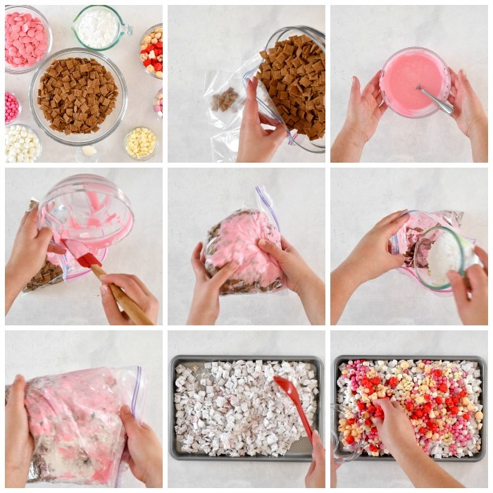 How to Make Cupid Crunch Snack Mix