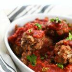 Jumbo Beef Meatballs with sauce